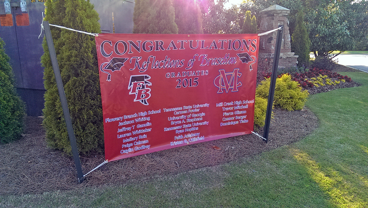 Graduation Banners Neighborhood Banner Signs