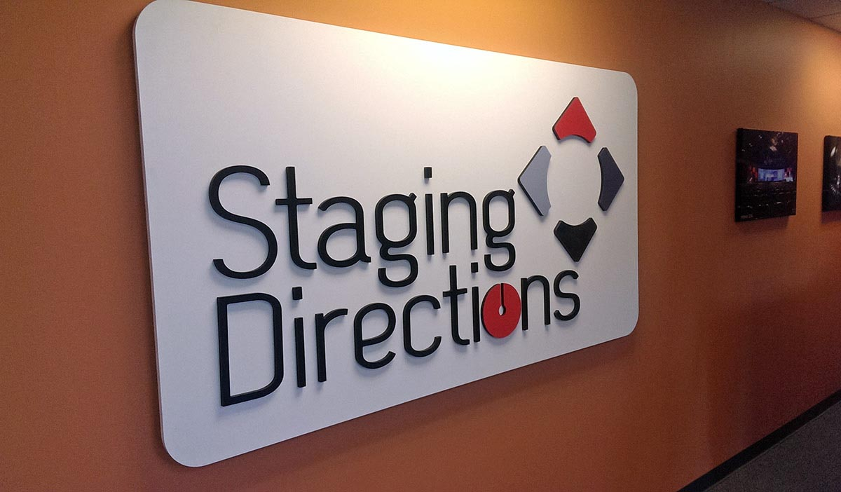 indoor office signs reception dimensional logos