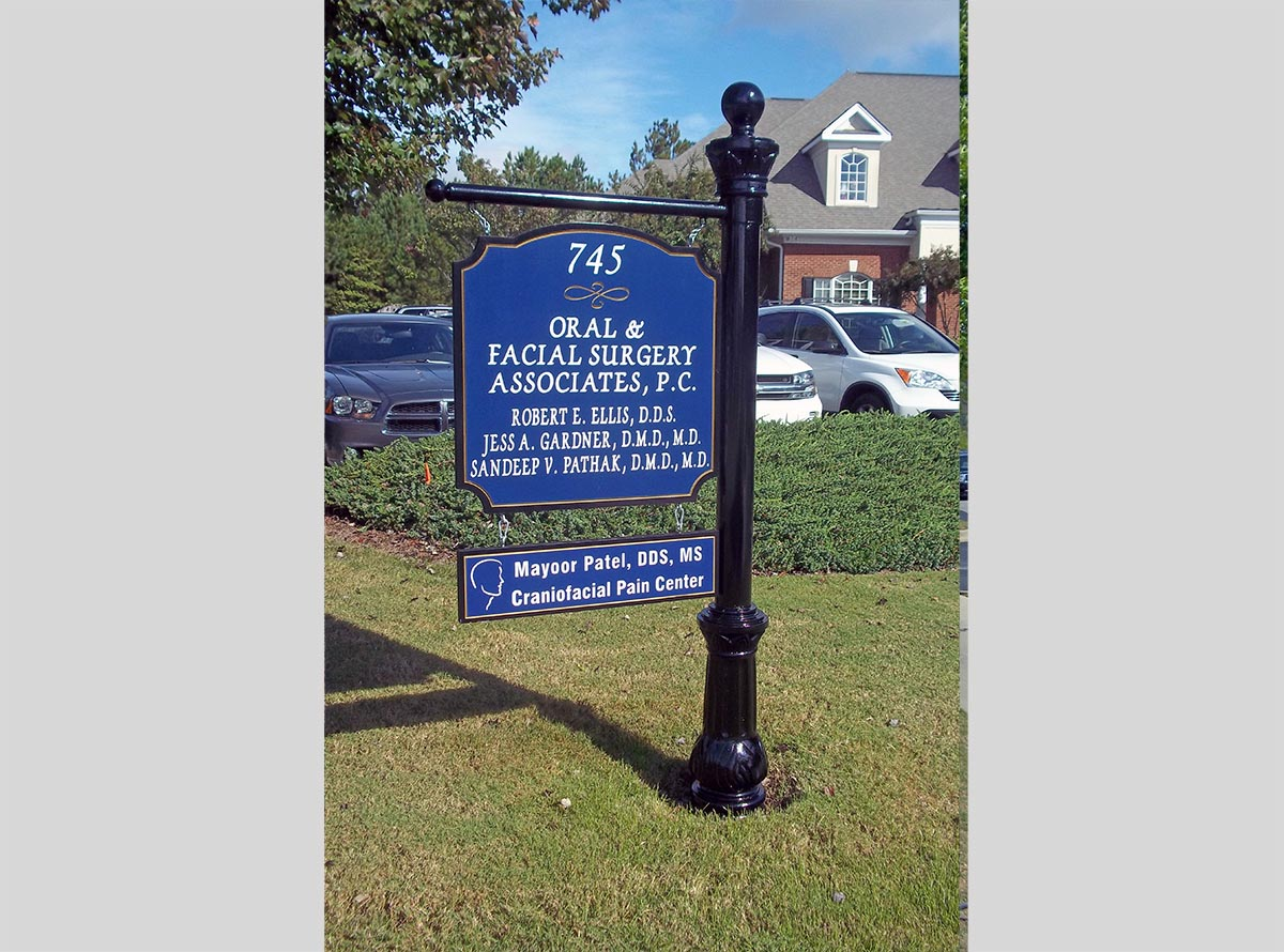metal post and panel sign