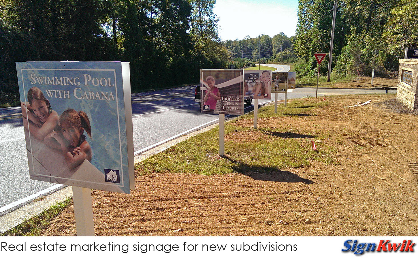subdivision marketing signs